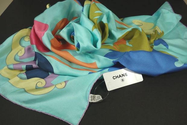 Languid Green Silk Scarf