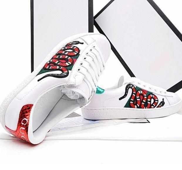 Embroidered Snake Sneaker