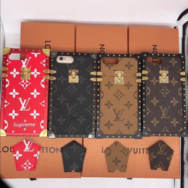 THE BOX LV Print iPhone Case