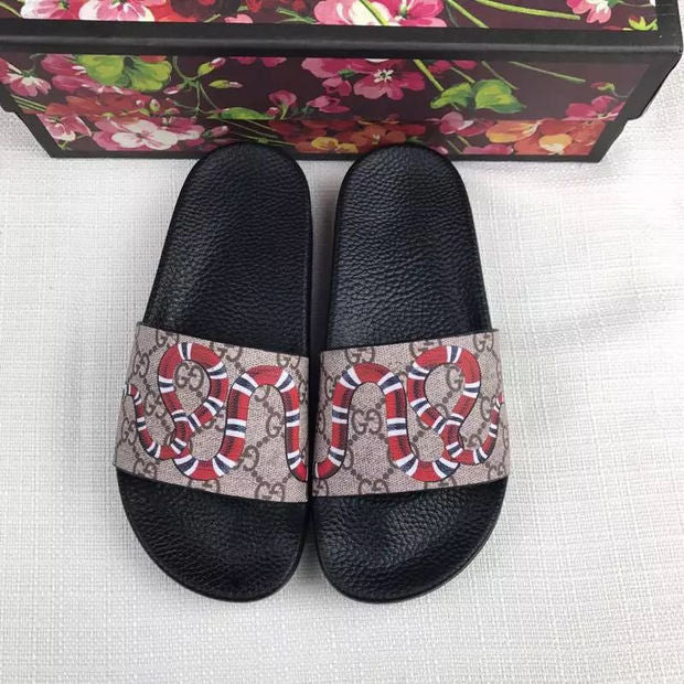 Cozy Animated Gucci Slippers - Snake