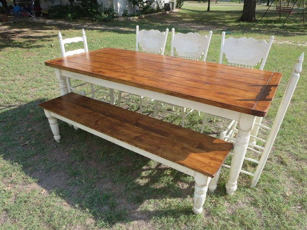 custom handmade farm table