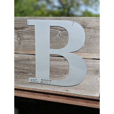 Custom Family Name Initial Established Date Sign