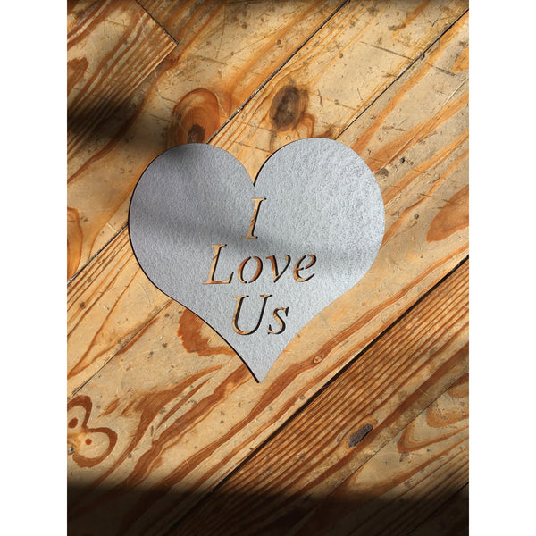 I Love Us Heart | Metal Sign