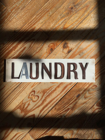 Handmade Reclaimed Barn Tin Laundry Sign