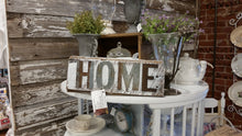 Handmade Reclaimed Barn Wood & Tin Home Sign