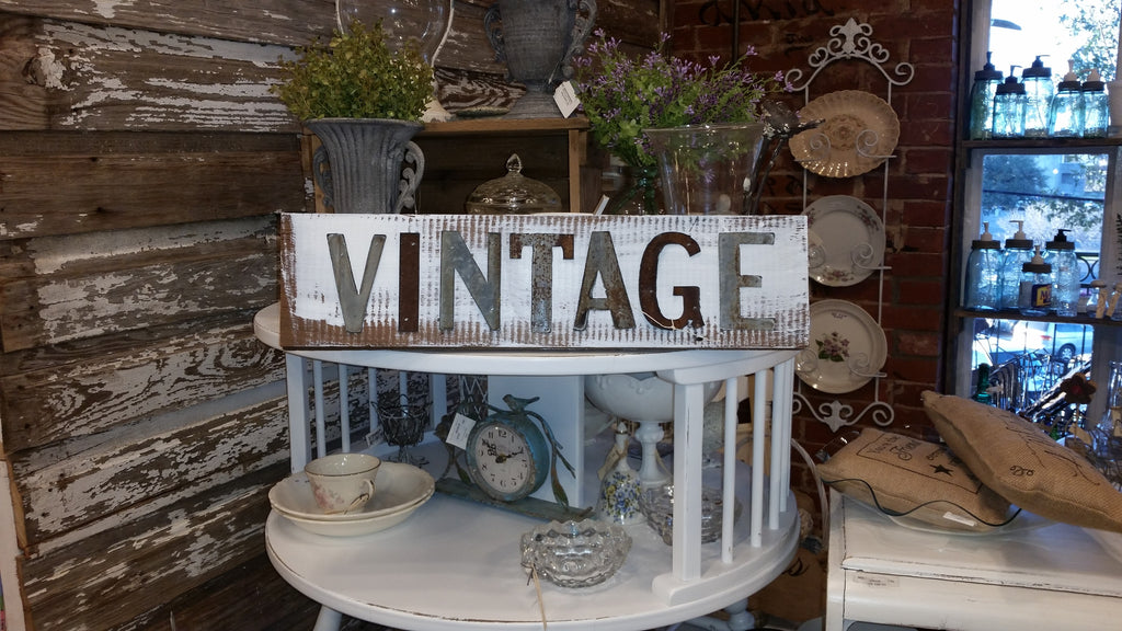 Handmade Reclaimed Barn Wood & Tin Vintage Sign