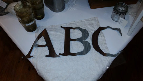Large Reclaimed Barn Tin Letters