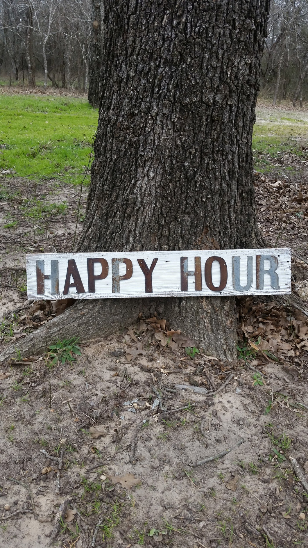 Reclaimed Barn Wood Sign | Happy Hour