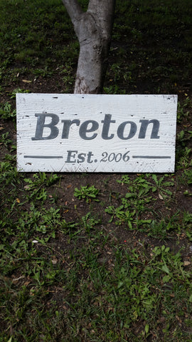 Custom Reclaimed Barn Wood Sign | Family Name