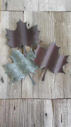 Reclaimed Barn Tin Leaf