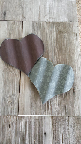 Reclaimed Barn Tin Heart