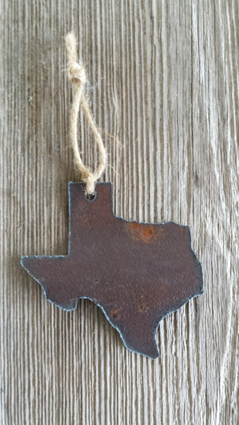 Reclaimed Barn Tin Texas Ornament
