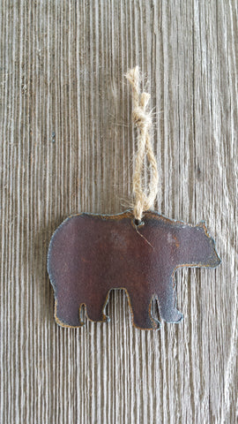 Reclaimed Tin Bear Ornament