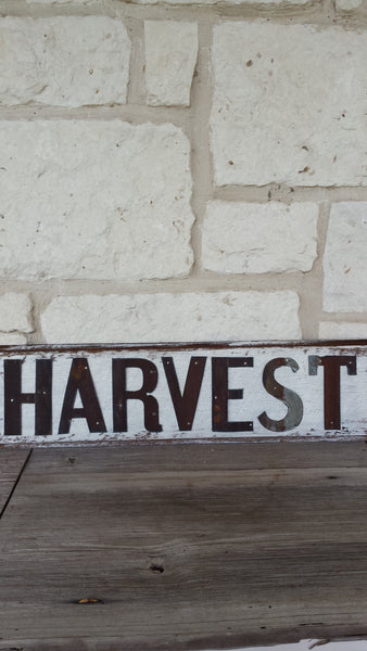 Reclaimed Barn Wood Sign | Harvest