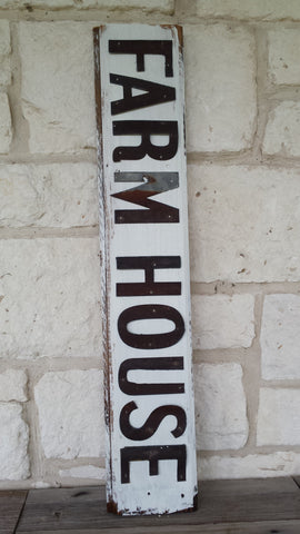 Handmade Reclaimed Barn Tin Farm House Sign