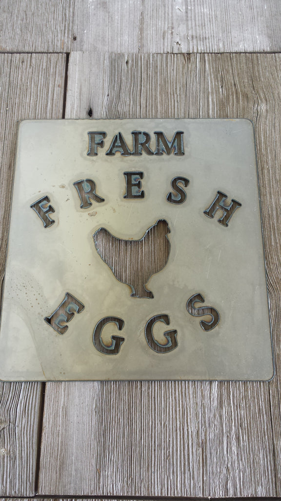 Farm Fresh Eggs Chicken Metal Sign