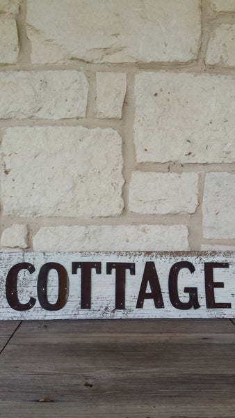 Handmade Reclaimed Barn Wood Sign | Cottage
