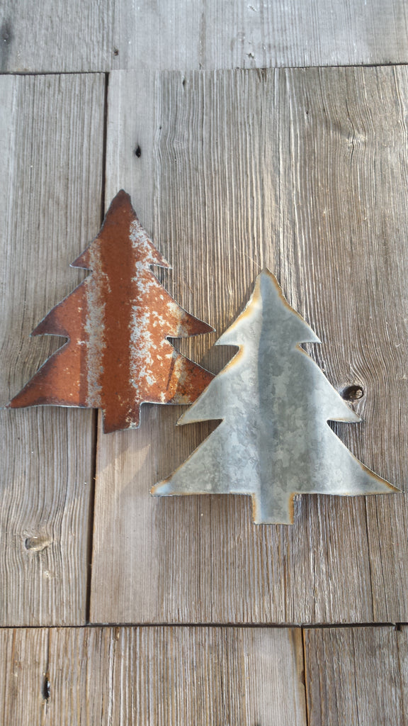 Reclaimed Barn Tin Christmas Tree