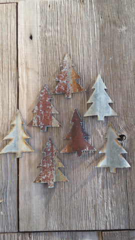 Reclaimed Barn Tin Small Metal Christmas Tree