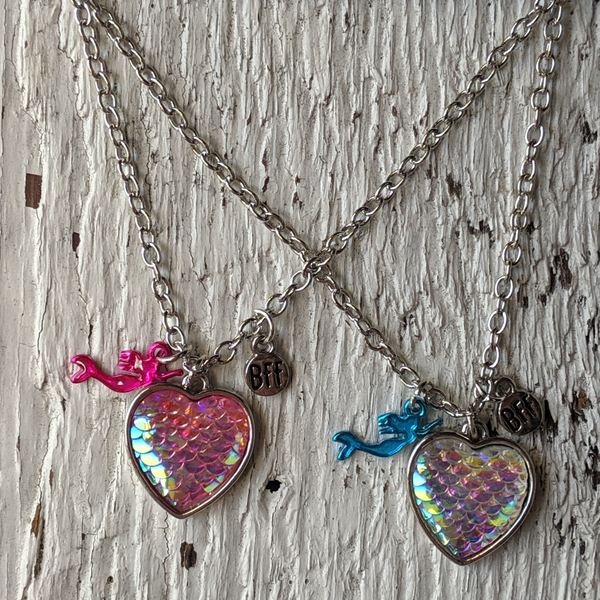 BFF Best Friends Forever Mermaid Necklace set three cheers for girls 3c4g