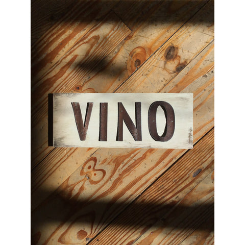 Handmade Reclaimed Barn Tin Vino Sign