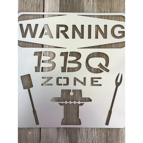 BBQ Zone | Metal Sign
