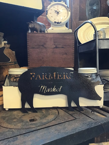 Farmers Market Pig | Metal Sign