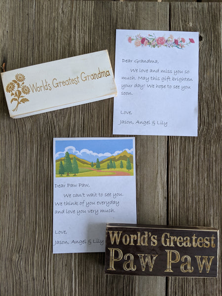 Customizable Engraved Sign & Note to Your Loved One