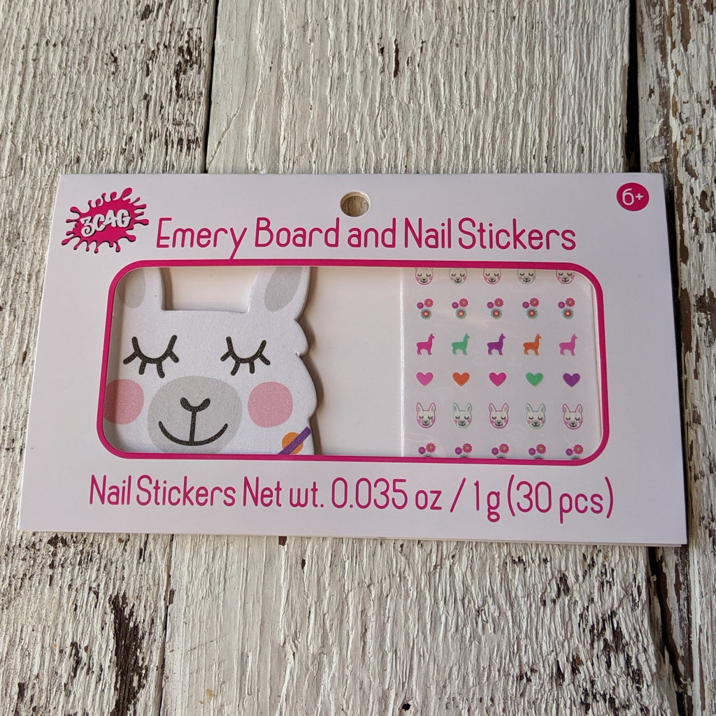 llama nail set three cheers for girls