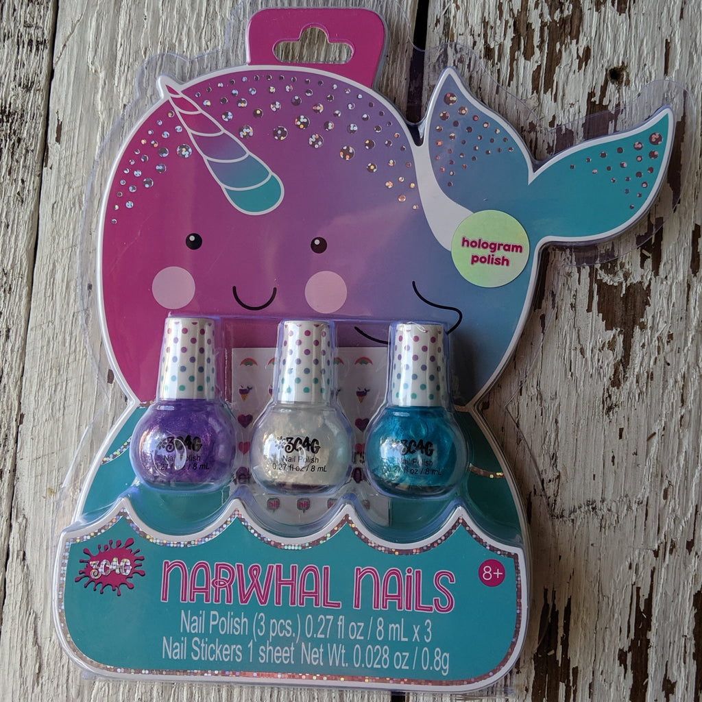 narwhal nail polish set three cheers for girls 3c4g
