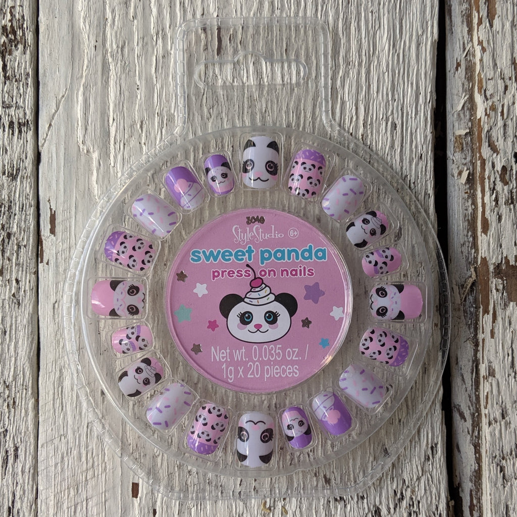 sweet panda press on nails three cheers for girls be magical