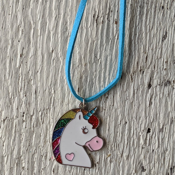 rainbow unicorn glitter sparkle unicorn necklace three cheers for girls 3c4g