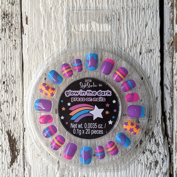 glow in the dark press on nails three cheers for girls be magical