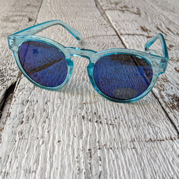 blue round sunglasses three cheers for girls 3c4g