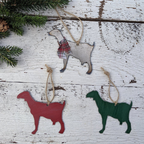 metal goat ornament