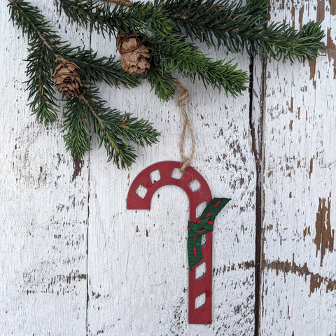 metal candy cane ornament