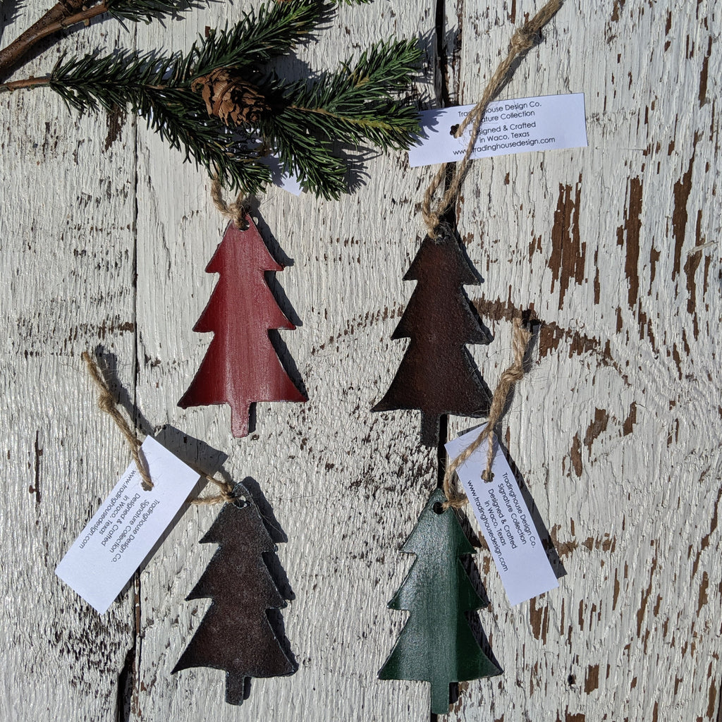 Reclaimed Barn Tin Christmas Tree Ornament