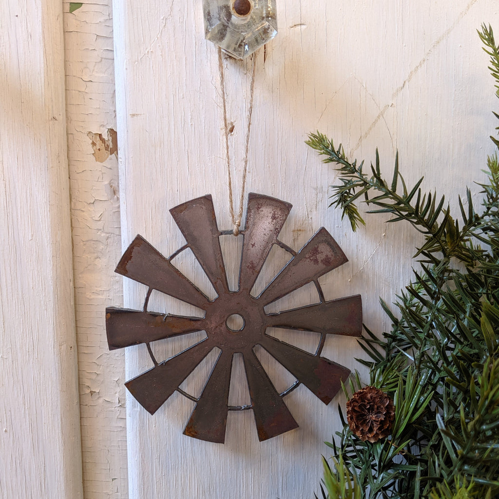 Metal Windmill Ornament
