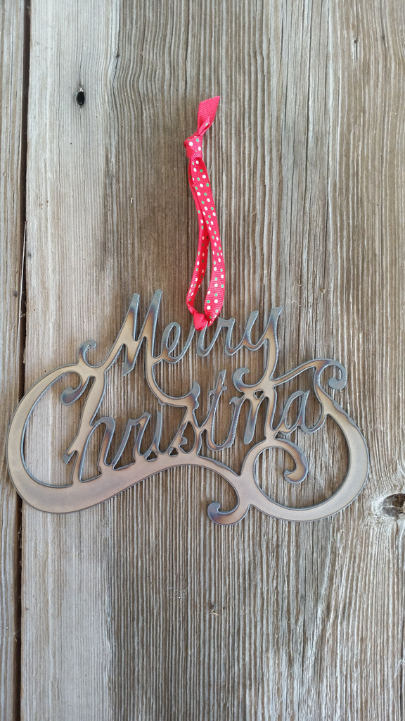 Merry Christmas Steel Ornament