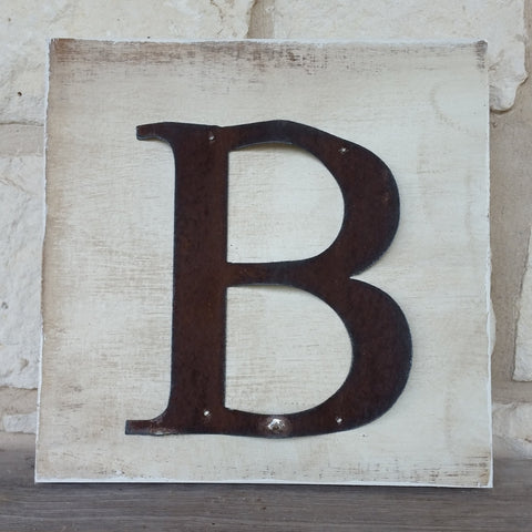 Reclaimed Barn Tin Sign | Letter Initial