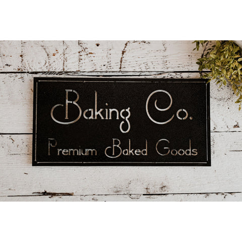 Baking Co. | Metal Sign