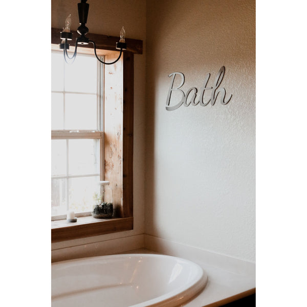 Bath Script Sign