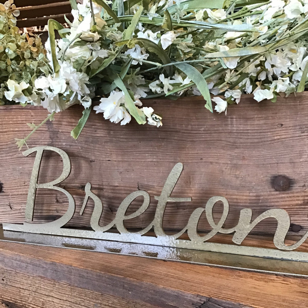 Tabletop Custom Name Sign | Metal Decoration