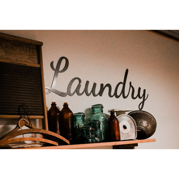 Laundry Script Sign