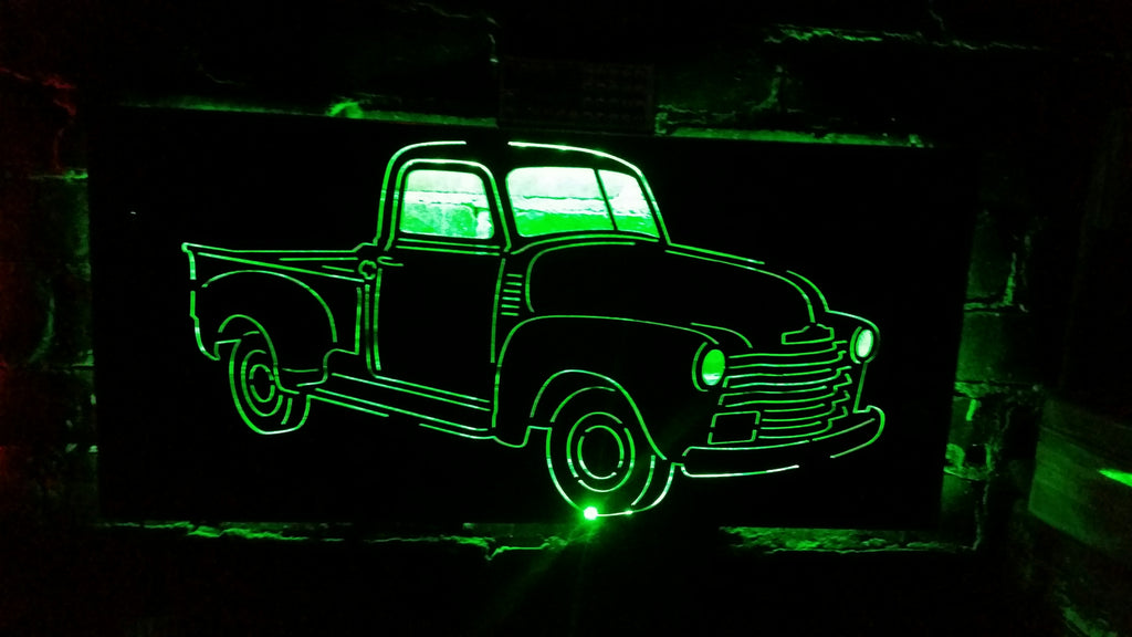 Old Vintage Truck LED Sign