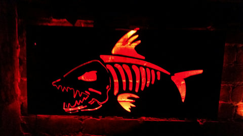 Skeleton Fish LED Sign