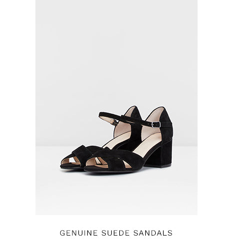 GENUINE SUEDE SANDALS