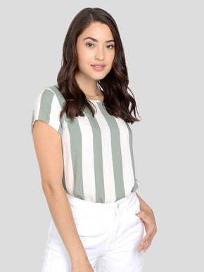 Boca Short Sleeve Striped Bouse