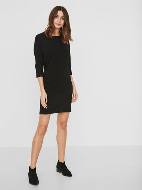 SHORT 3/4 SLEEVES SWEATER-DRESS