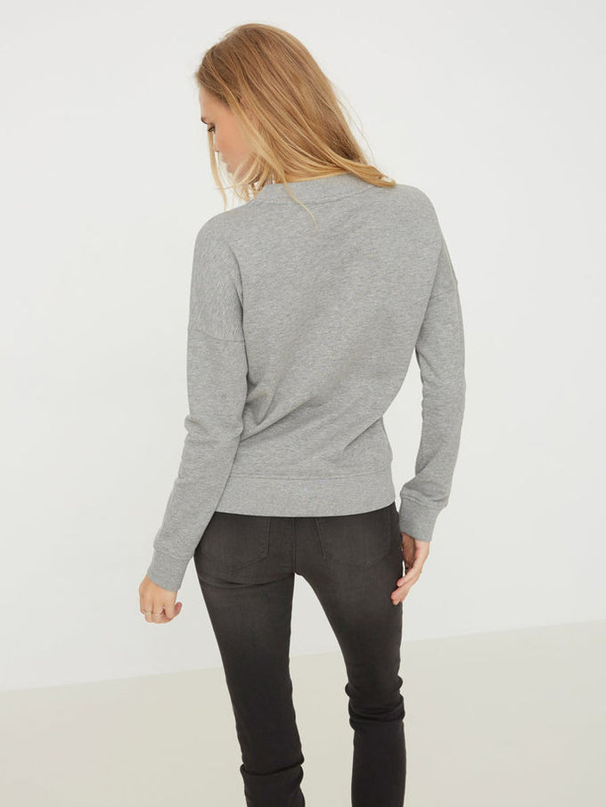 F-SWEAT NMCHANGE GRIS PALE